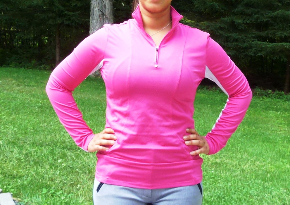 Fuschia Ariat Sunstopper in medium.